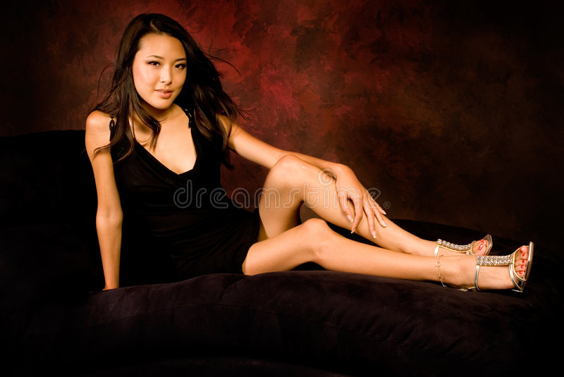 Brunette asiatique sexy photographie stock