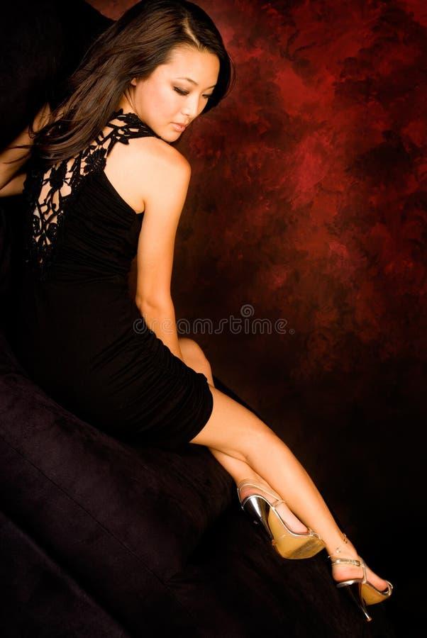 Brunette asiatique sexy image libre de droits