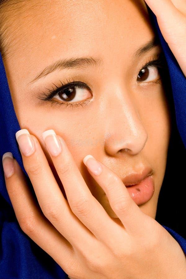 Brunette asiatique sexy photos stock