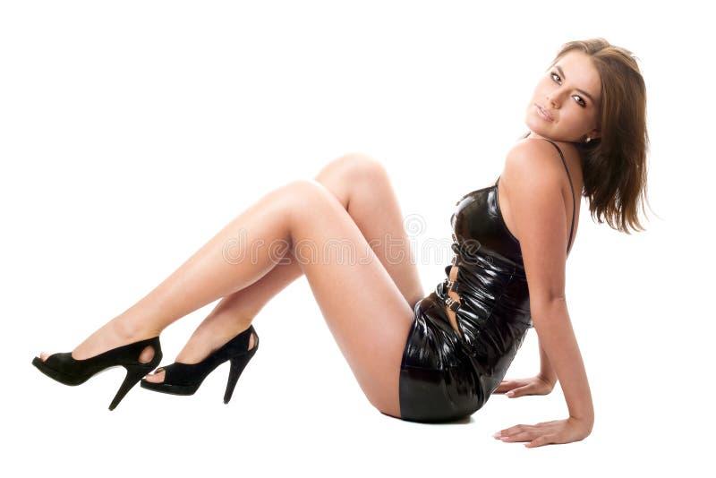 Brunette atractivo foto de archivo libre de regalías