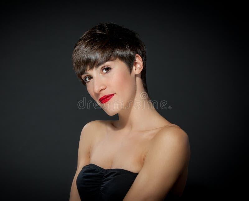 Brunette attraente fotografia stock