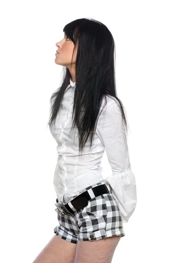 brunette beau image stock