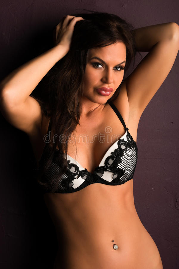 Download Brunette stock image. Image of brunette, shapely, black - 32666561