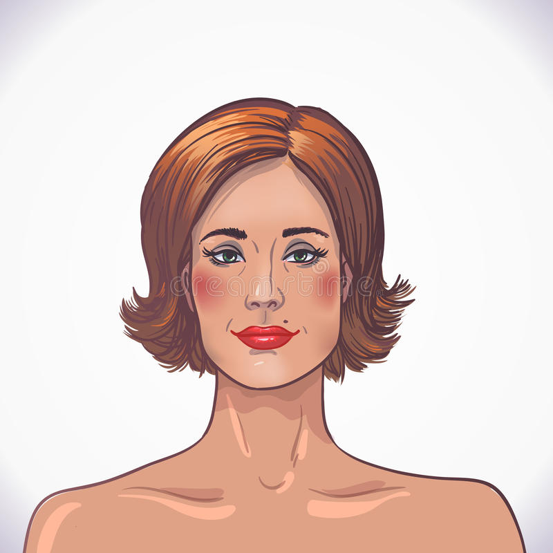 Download Brunette Beautiful Woman. Facial And Body Care Stock Vector - Illustration: 31402290