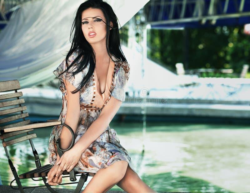 Brunette beauty royalty free stock photography
