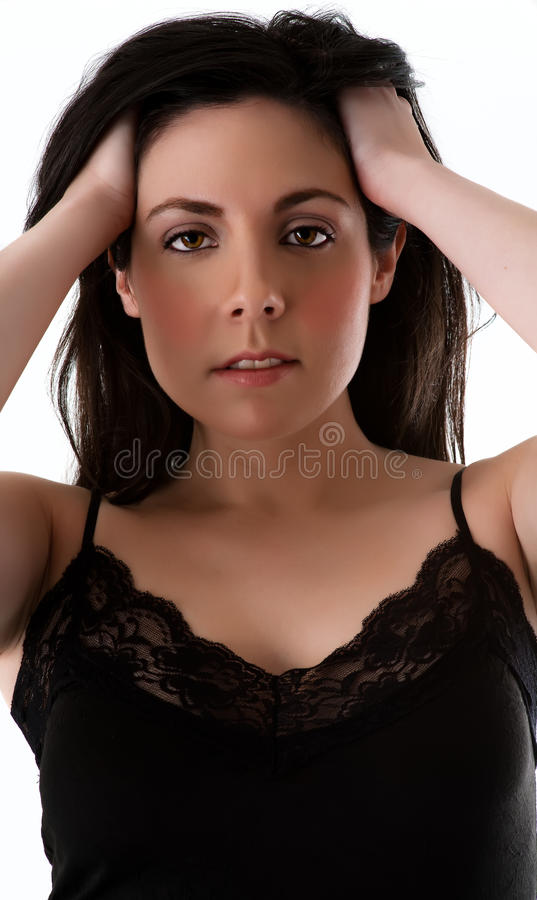 Brunette beauty royalty free stock photography