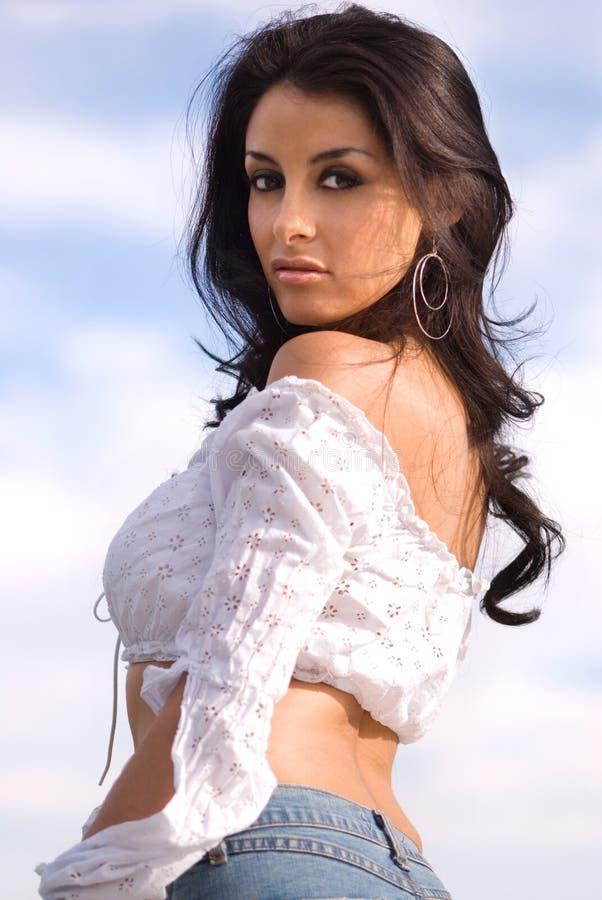 Brunette bonito. fotos de stock