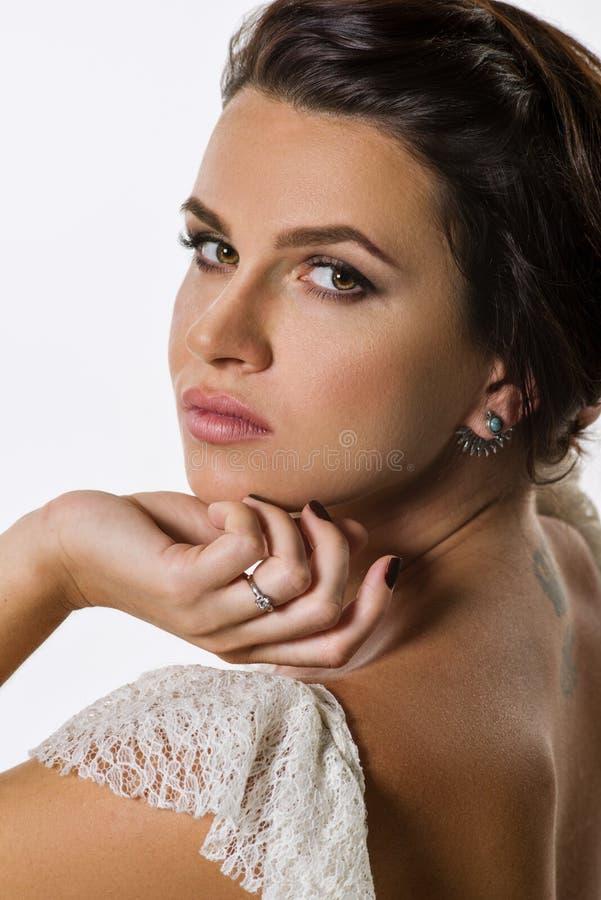 Brunette bonito imagem de stock