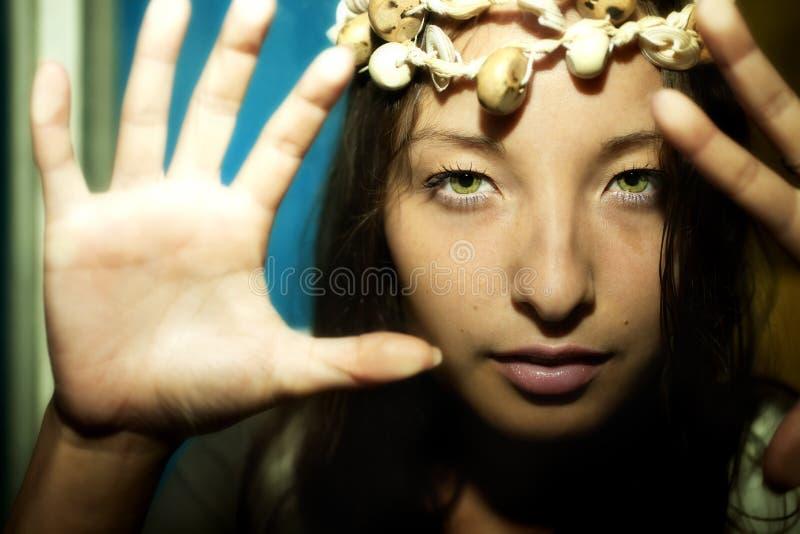 Brunette bonito da mulher nova imagens de stock