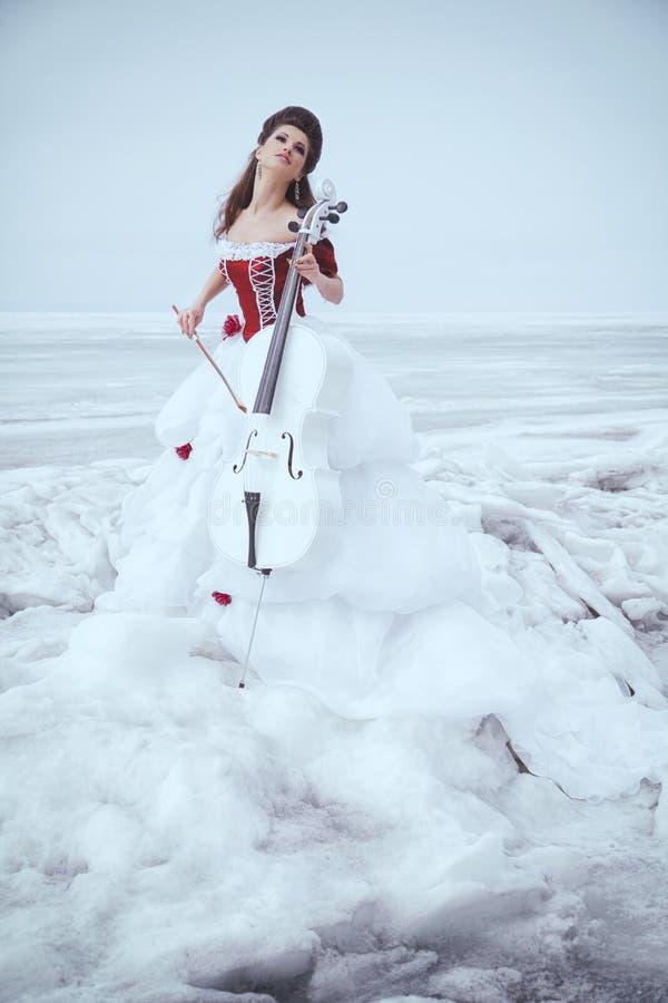 Brunette bonito em um vestido fotografia de stock