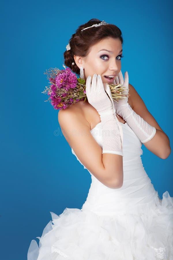 Download Brunette bride stock image. Image of celebration, cheerful - 23233223