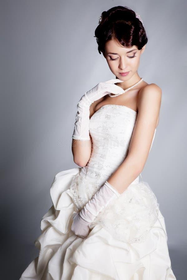 Brunette bride royalty free stock photos