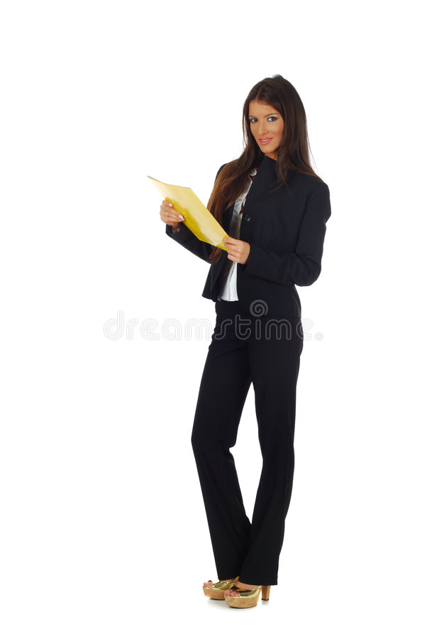 Brunette businesswoman royalty free stock photo