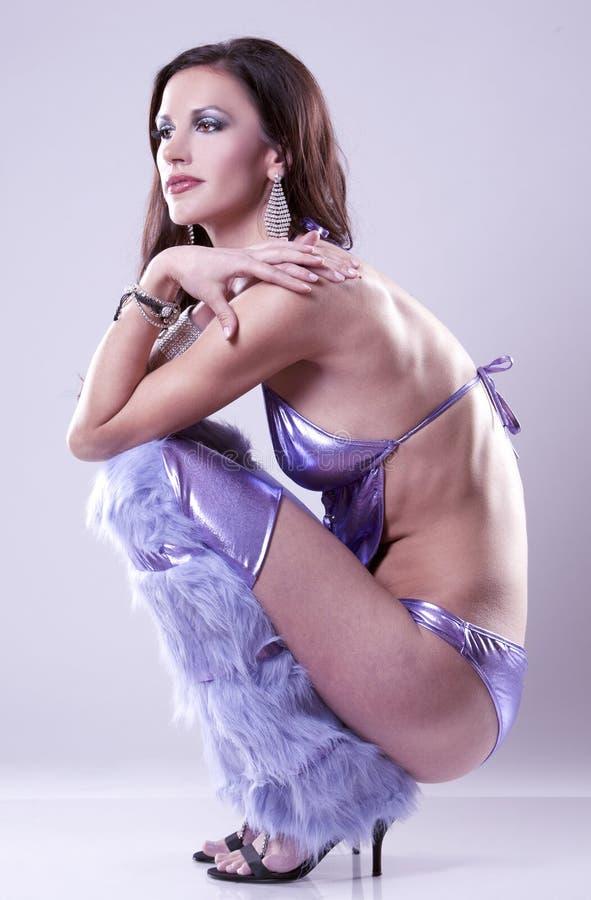 Download Brunette In Clubwear Stock Fotografie - Afbeelding: 24234112