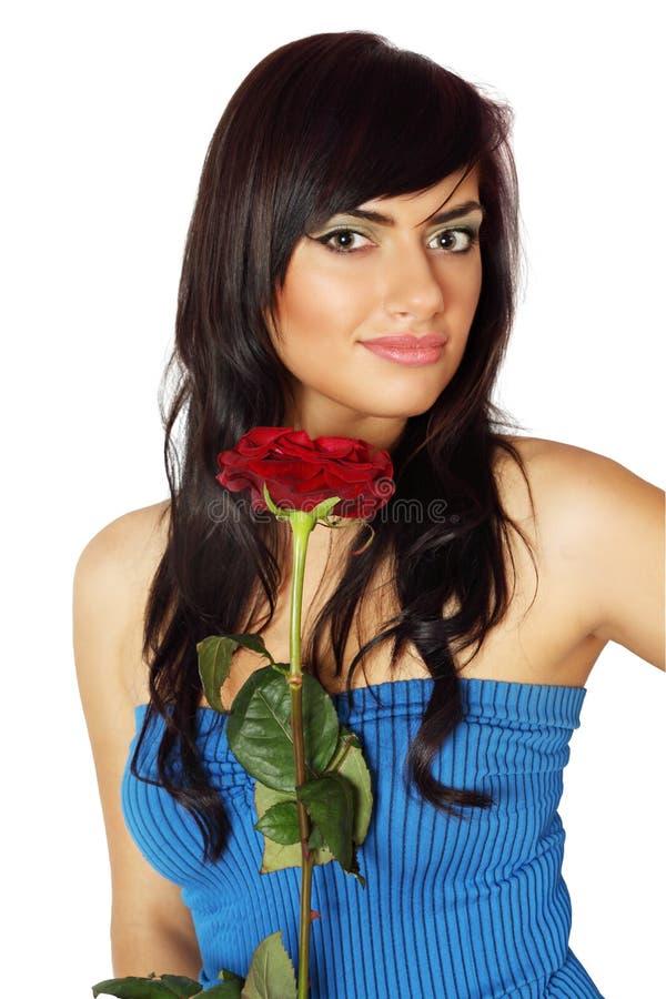 Brunette com Rosa fotos de stock royalty free