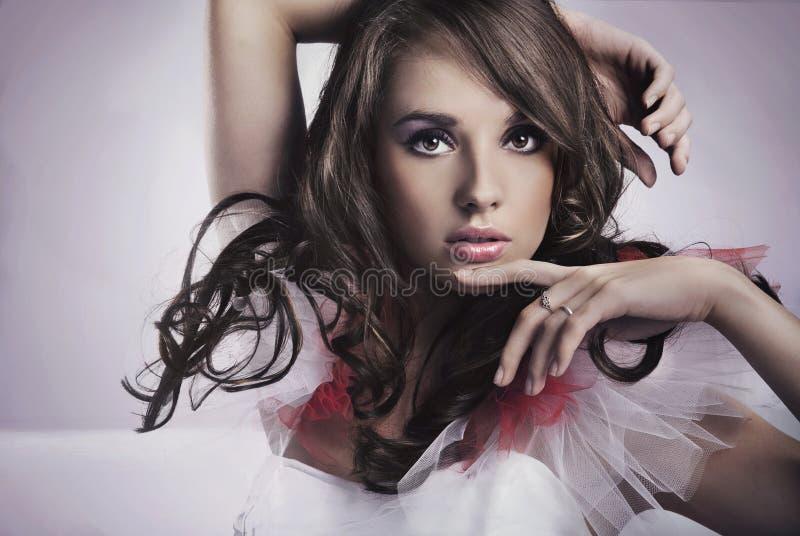 Brunette da beleza foto de stock royalty free