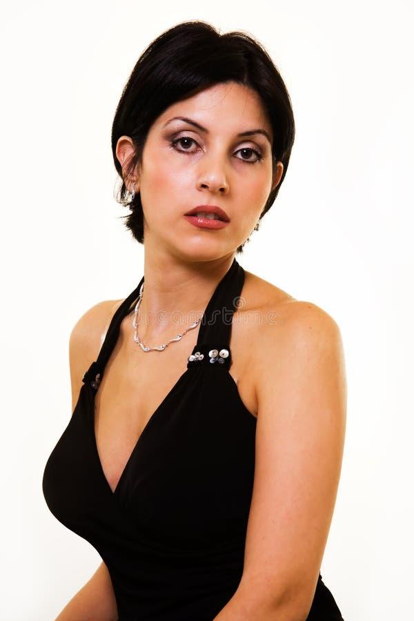 Brunette de cheveu court photos libres de droits
