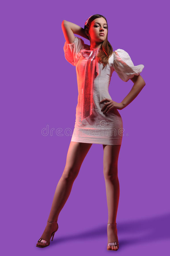Download Brunette In A Denim Suit Stock Images - Image: 19514594