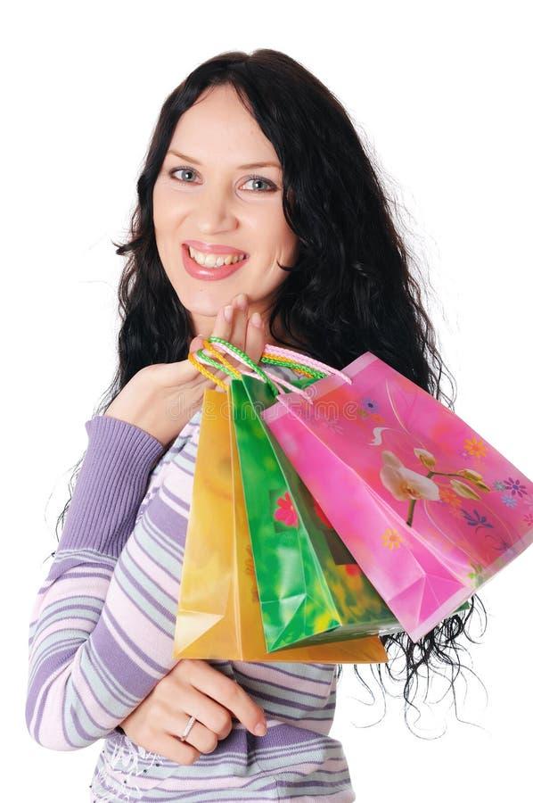 Download Brunette encantador novo foto de stock. Imagem de ecstatic - 12813576