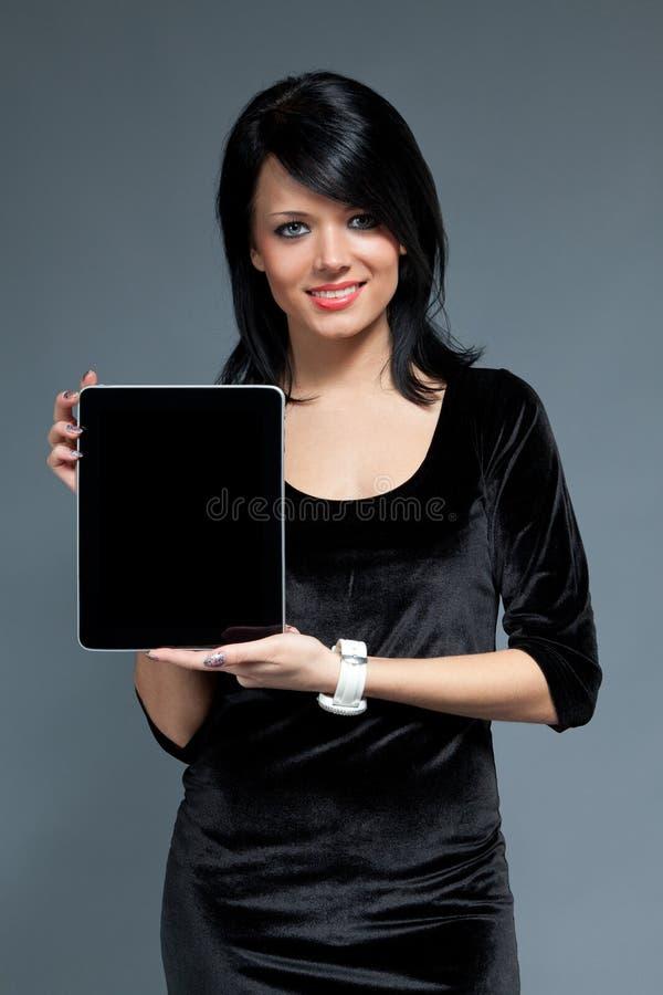 Brunette et dispositif de garniture de contact photos libres de droits