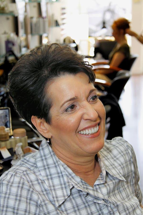 Brunette femminile ispanico di mezza età fotografie stock libere da diritti