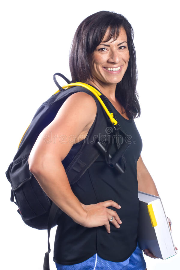 Download Brunette Fitness Student stock image. Image of isolated - 20322415