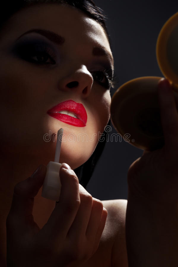 Download Brunette In Front Of Mirror Stock Image - Image: 34703767