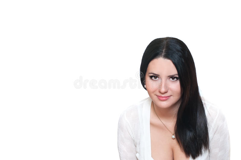 Download Brunette girl stock photo. Image of adult, isolated, woman - 17516012