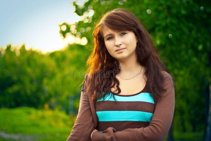 Brunette girl stock image