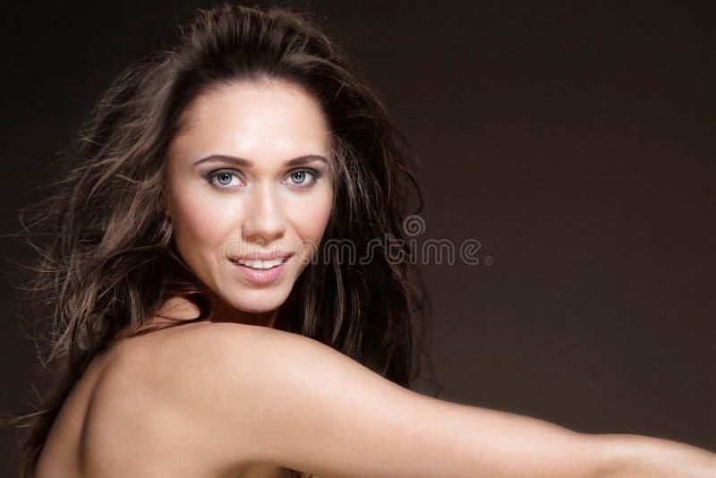 Download Brunette girl stock photo. Image of beauty, black, female - 27616078