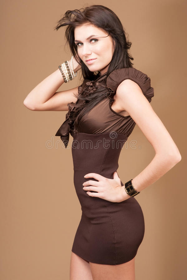 Download Brunette girl stock photo. Image of gorgeous, female - 28269634