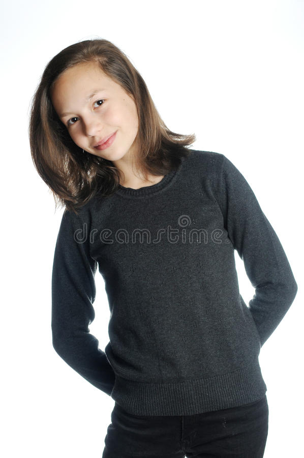 Download Brunette Girl Isolated Stock Photo - Image: 26495140