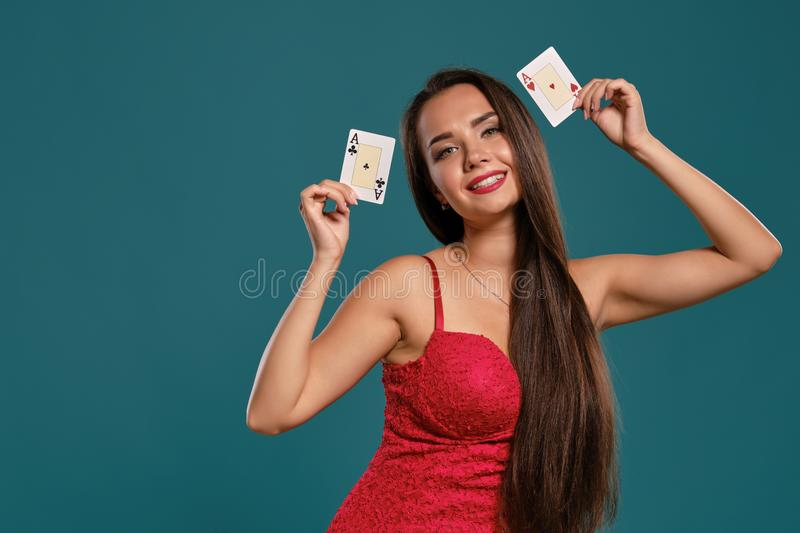 Lady Playing With Hair Stock Image Image Of Female Girl