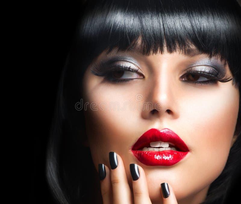 Brunette Girl Portrait stock image