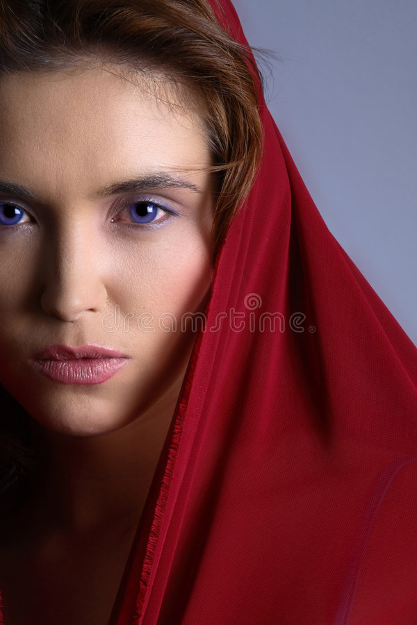 Download Brunette in headscarf stock image. Image of beautiful - 2549397