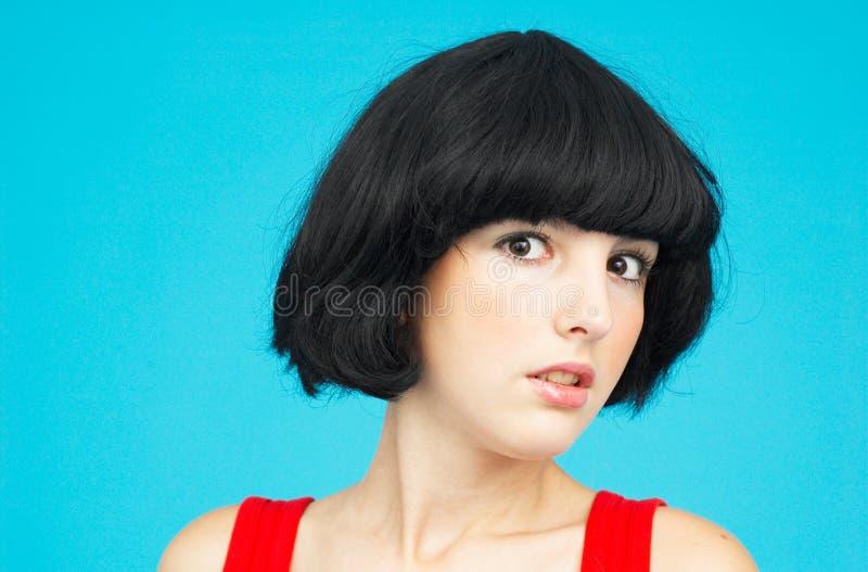 Brunette hermoso.   foto de archivo