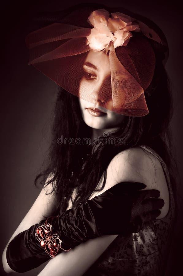 Brunette hermoso fotografía de archivo libre de regalías