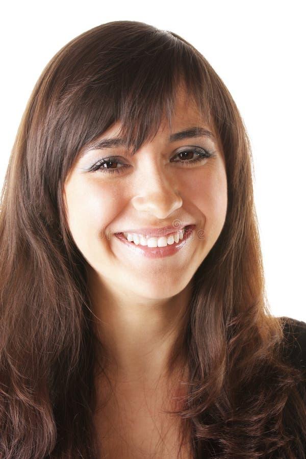 Brunette heureux photos libres de droits