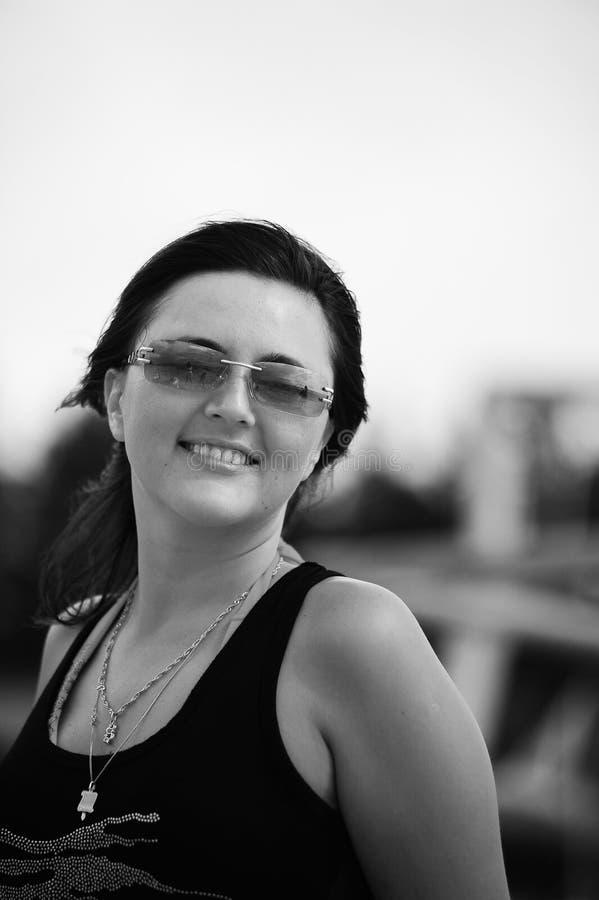 Brunette heureux photos stock