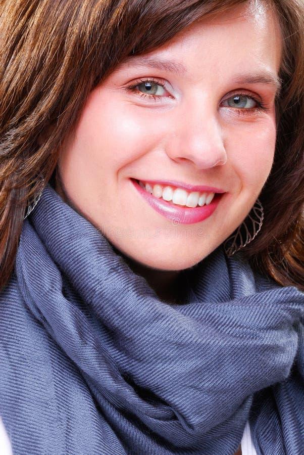 Brunette heureux photographie stock