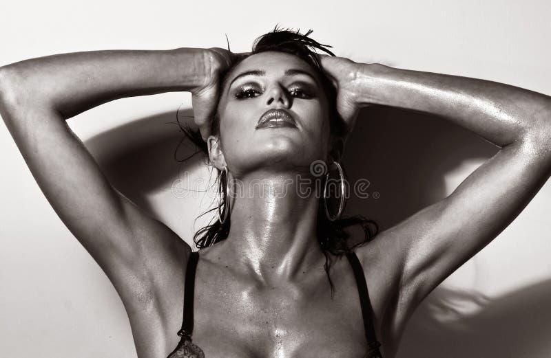 Brunette impressionante 'sexy' imagem de stock