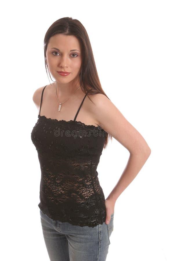 Free Brunette Lace2 Stock Photo - 433380