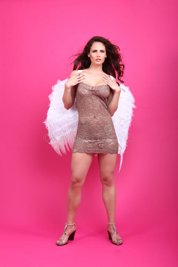 Download Brunette In Lingerie With A Beautiful Smile Royalty Free Stock Images - Image: 32220349