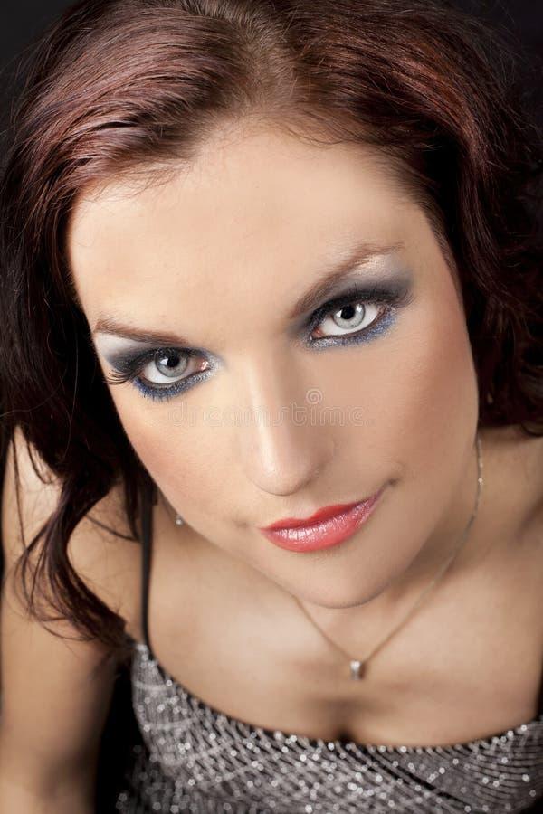 Download Brunette in long dress stock photo. Image of elegant - 25354338