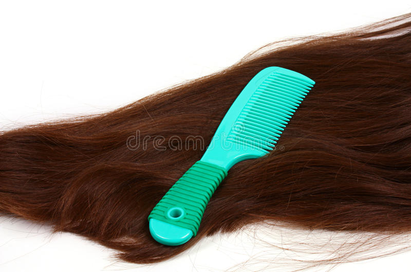 Brunette long hair stock photos
