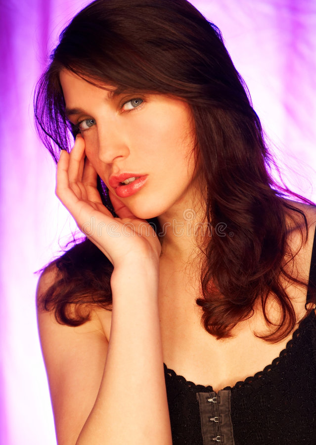 Download Brunette model pose stock image. Image of beauty, attractive - 561879