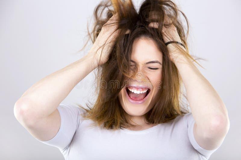 Download Brunette novo feliz foto de stock. Imagem de feliz, brunette - 65580662