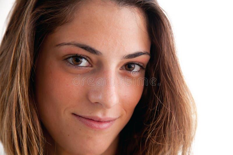 Brunette portrait stock image