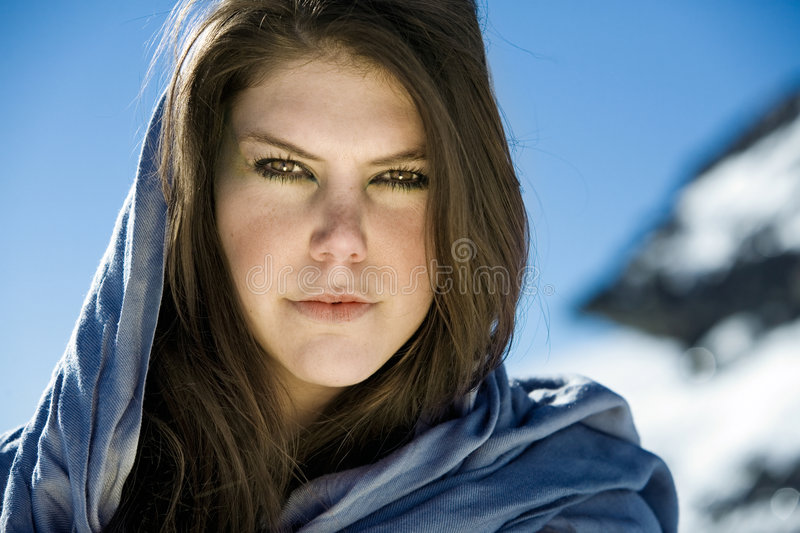 Brunette portrait royalty free stock photos
