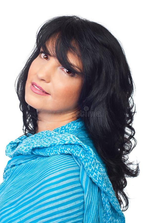 brunette portrait smile soft woman στοκ εικόνα με δικαίωμα ελεύθερης χρήσης